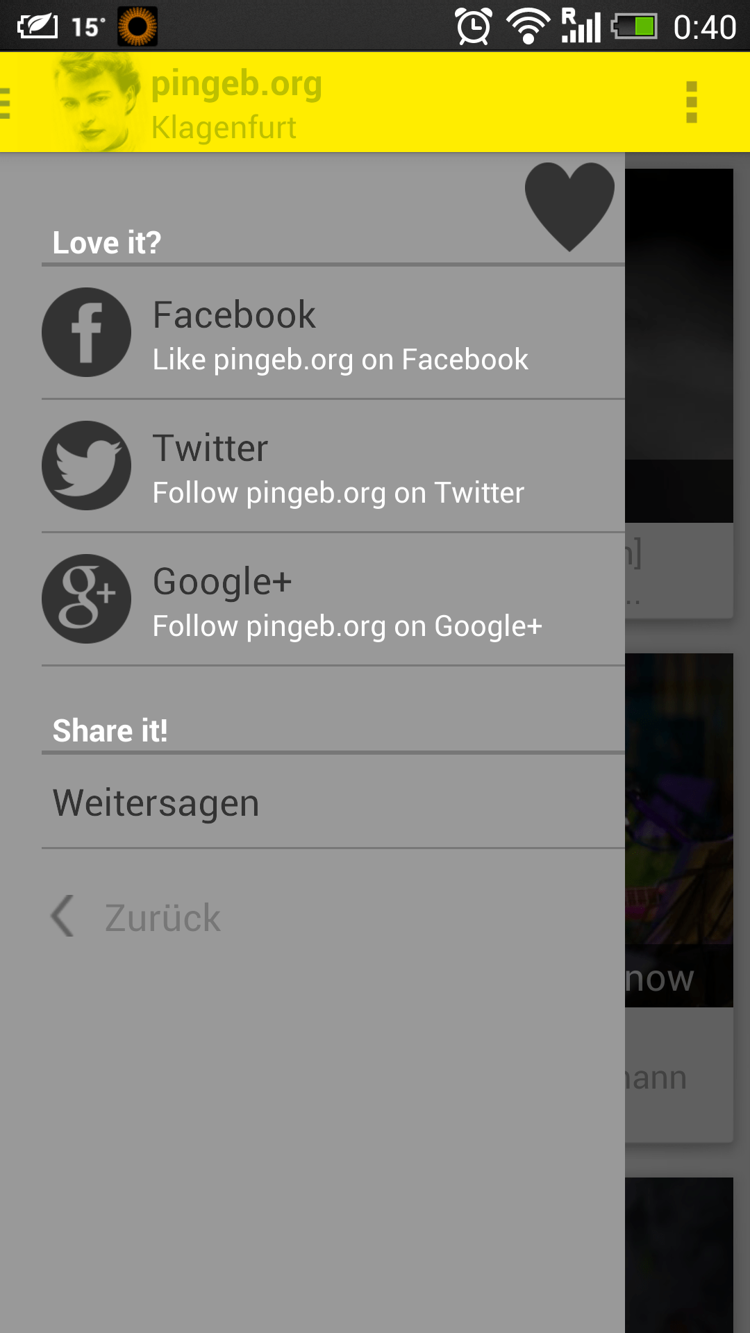 Android-App by pingeb.org