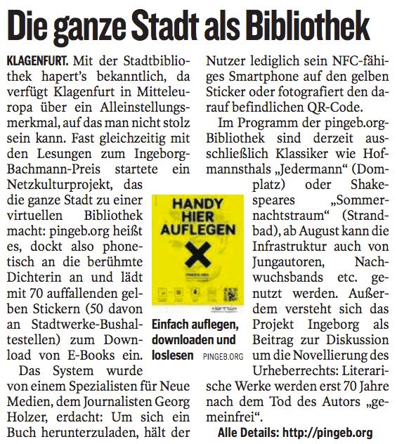 Kleine Zeitung, 4. Juli 2012