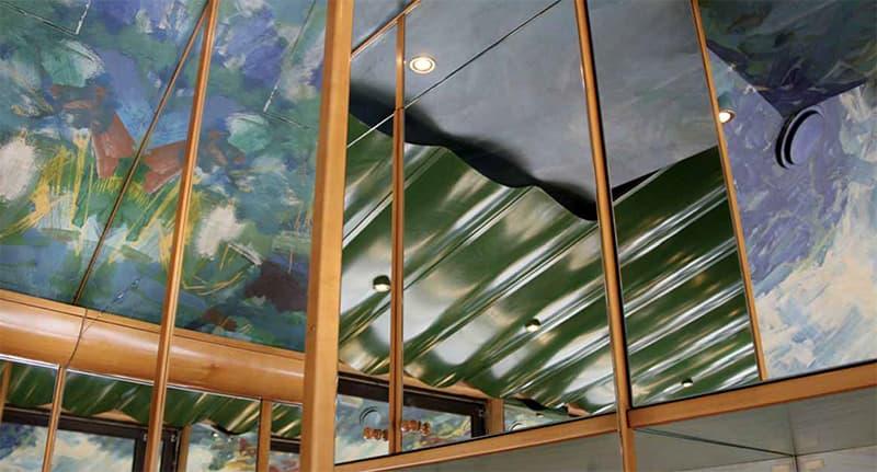 Deckenmalerei im Café Loretto (c) Gerhard Maurer