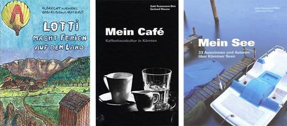 Einige der Bücher von Gabi Russwurm-Biró