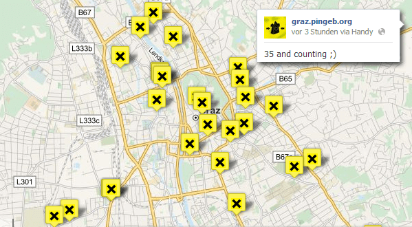 35 Start-Locations in Graz